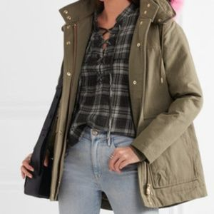 Madewell Terrace Lace Up Flannel Plaid Top